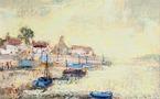 Le port de la Gachère en Vendée, par A.-D. Steinlen