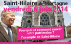 Guy Massin-Le Goff à la rescousse de nos églises en danger de mort ! Comment sauver l'église Saint-Hilaire de Mortagne !